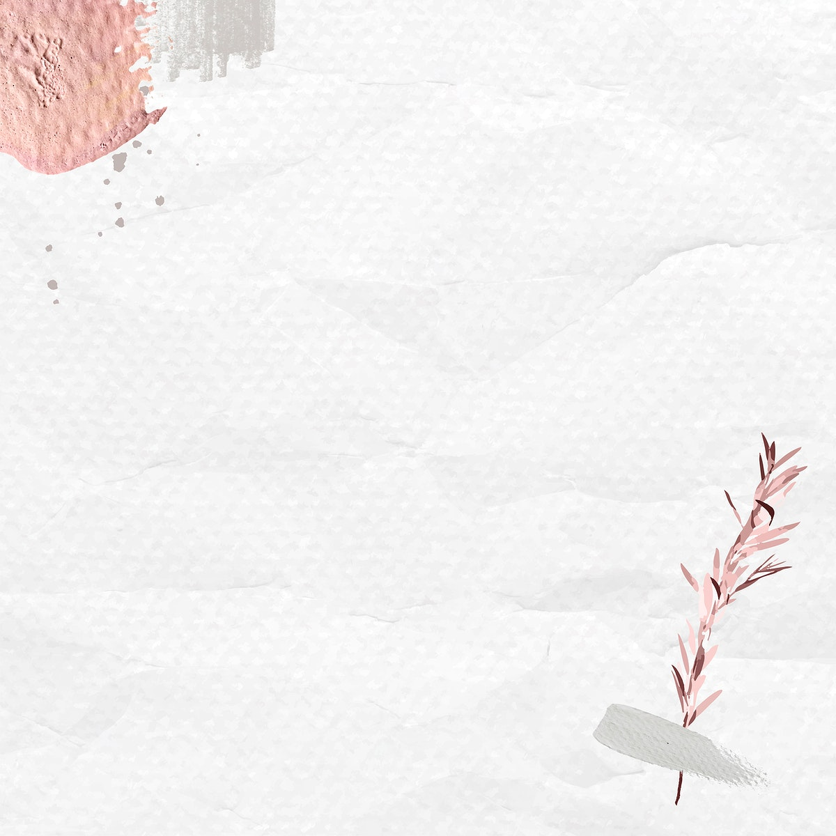 Eucalyptus pattern on crumpled background template vector