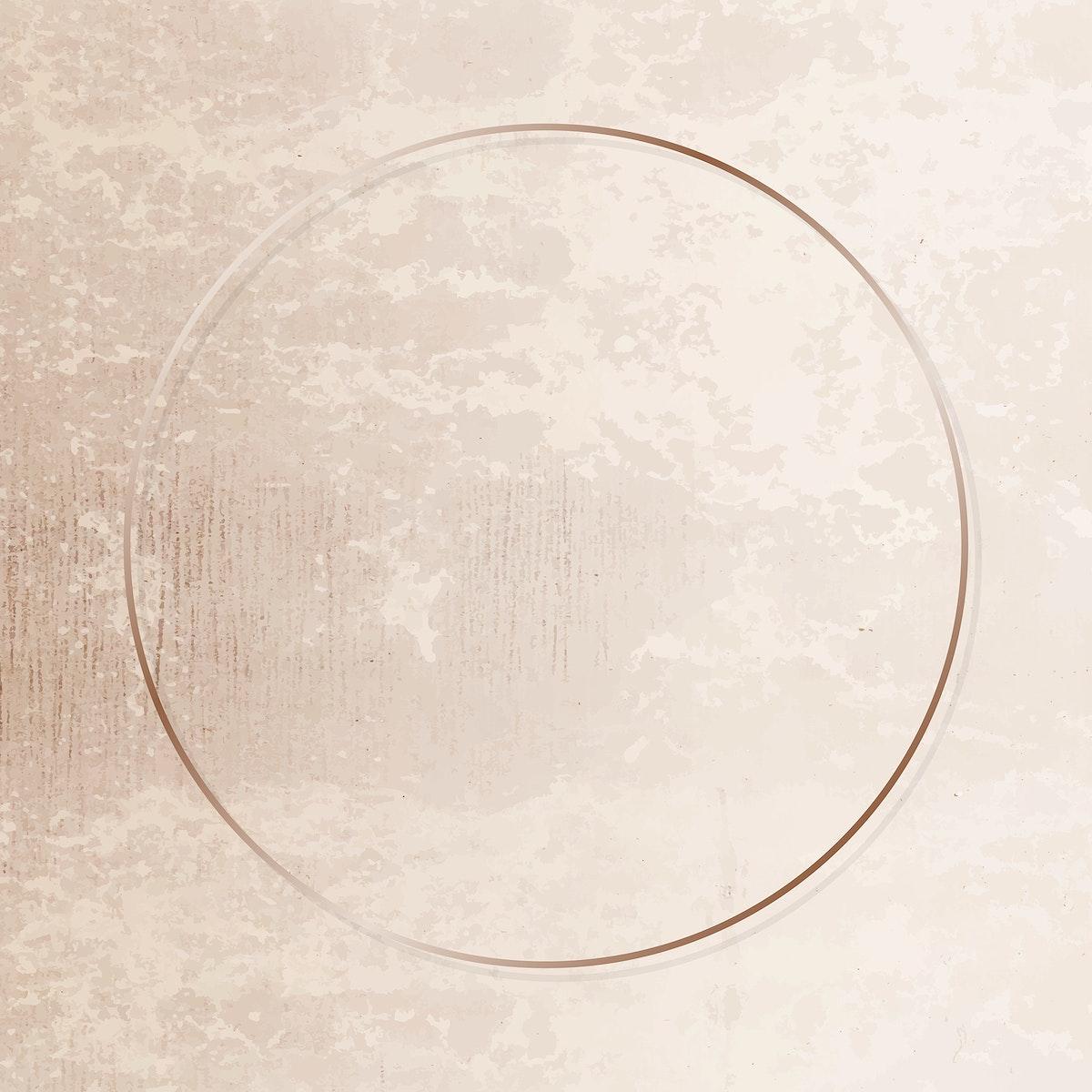 gold frame on grunge background vector