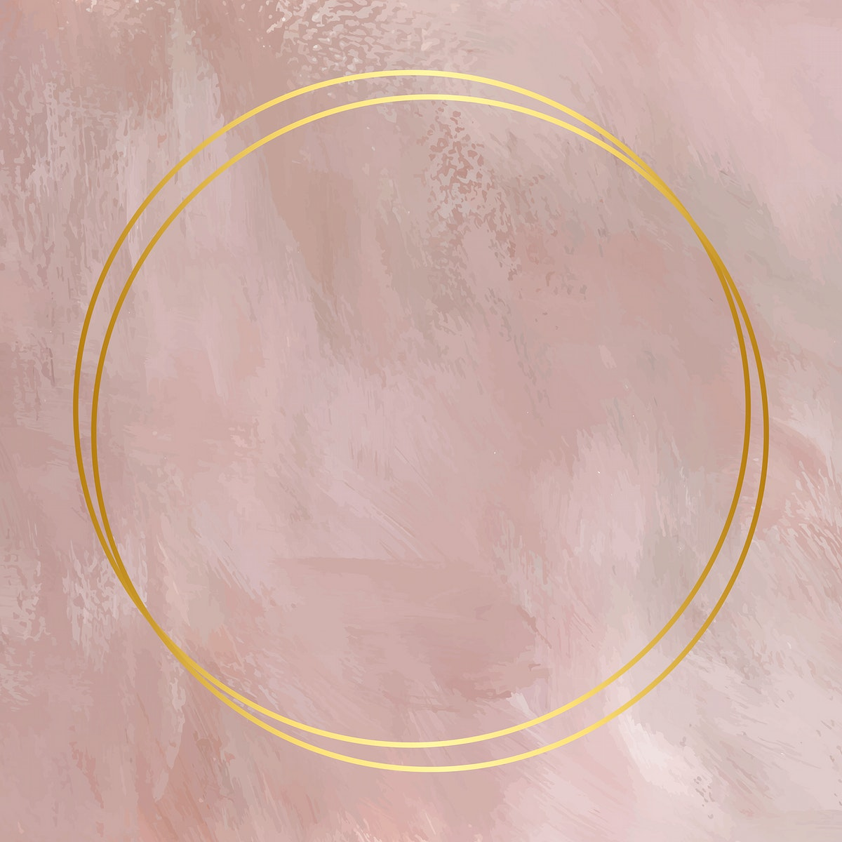 gold frame on on pink background vector