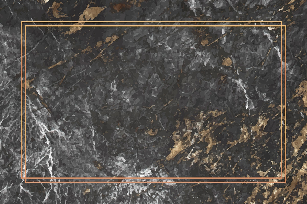 Rectangle gold frame on marble background vector