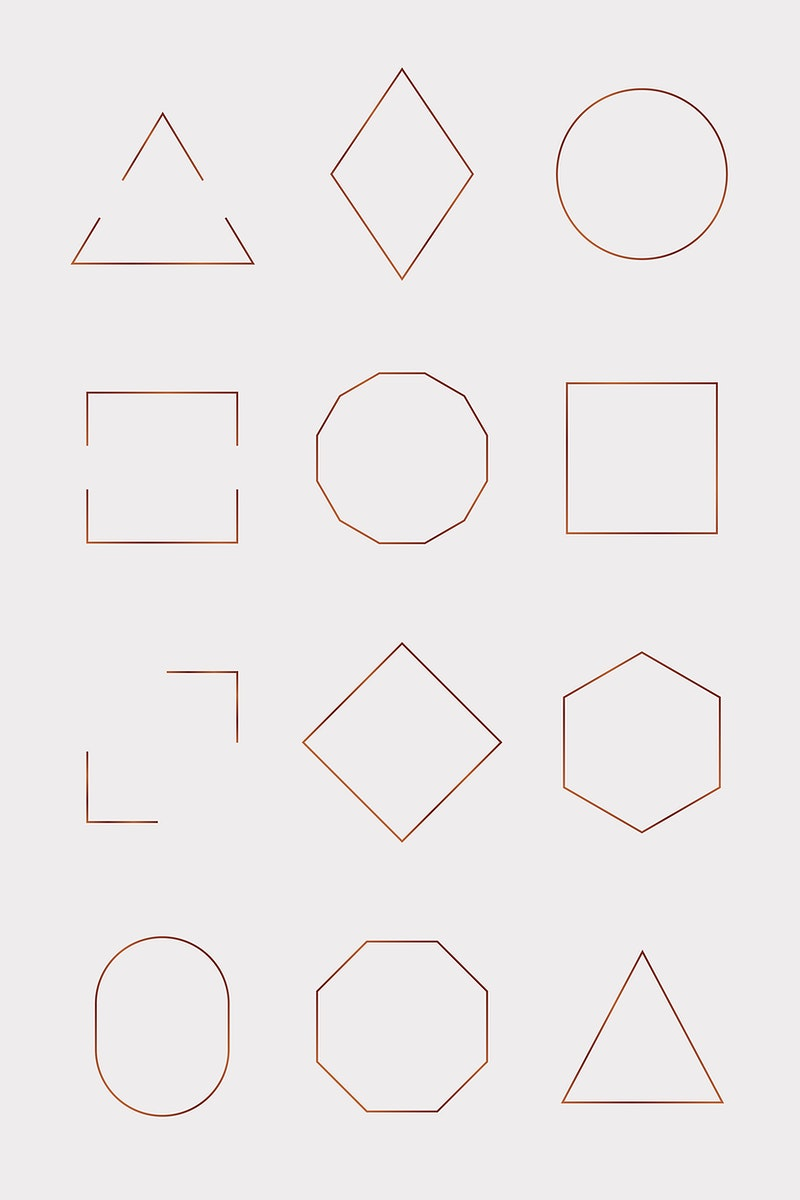 Collection of various frames template vector