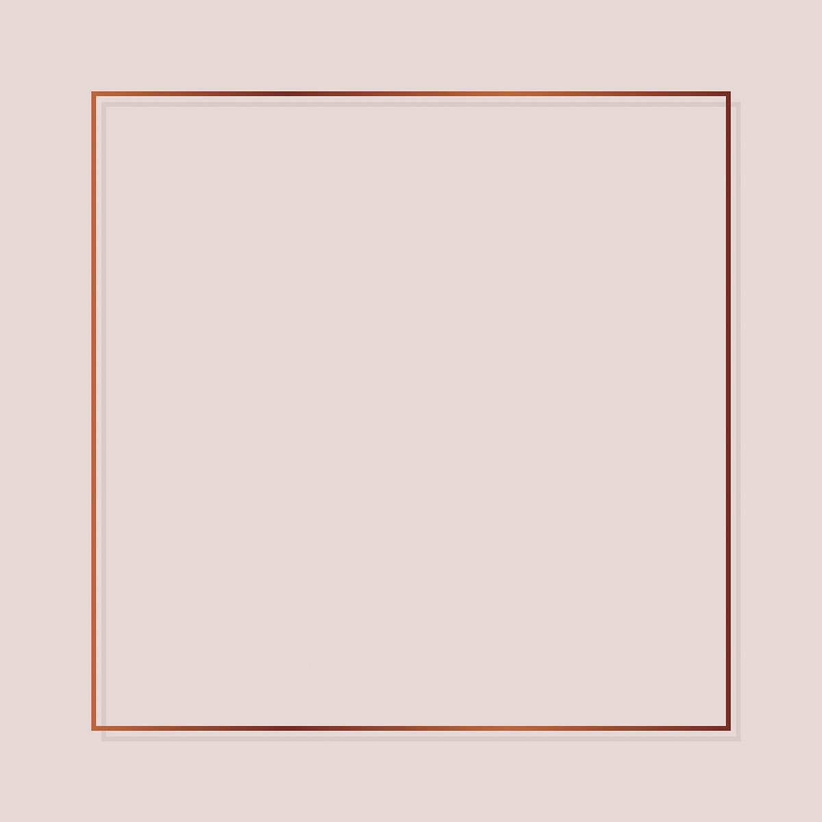 Square copper frame on a blank background vector