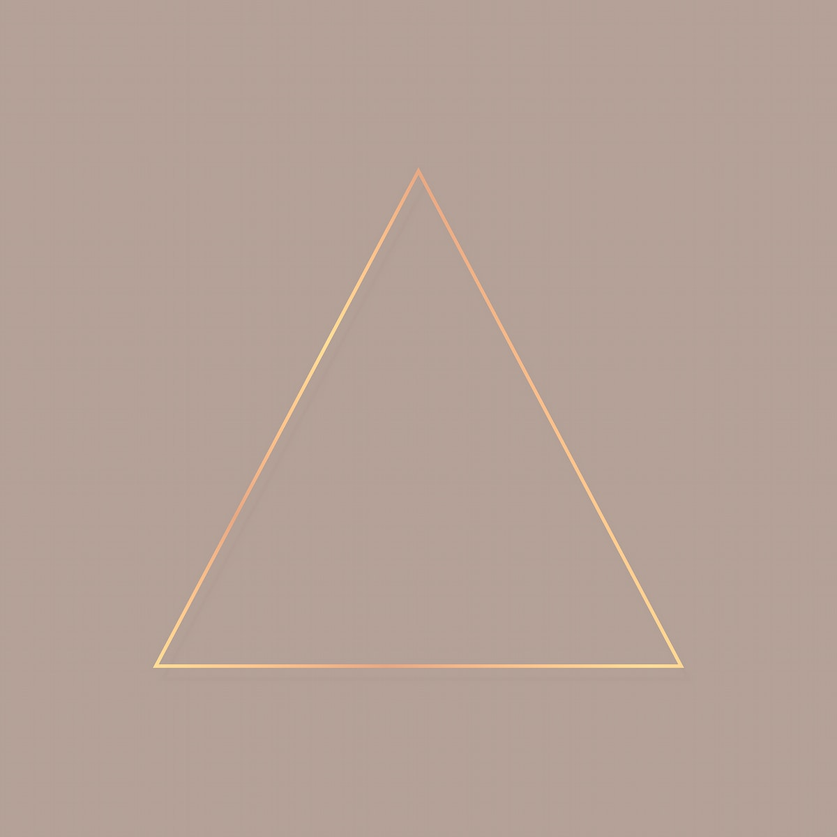 Triangle gold  frame on a blank background vector