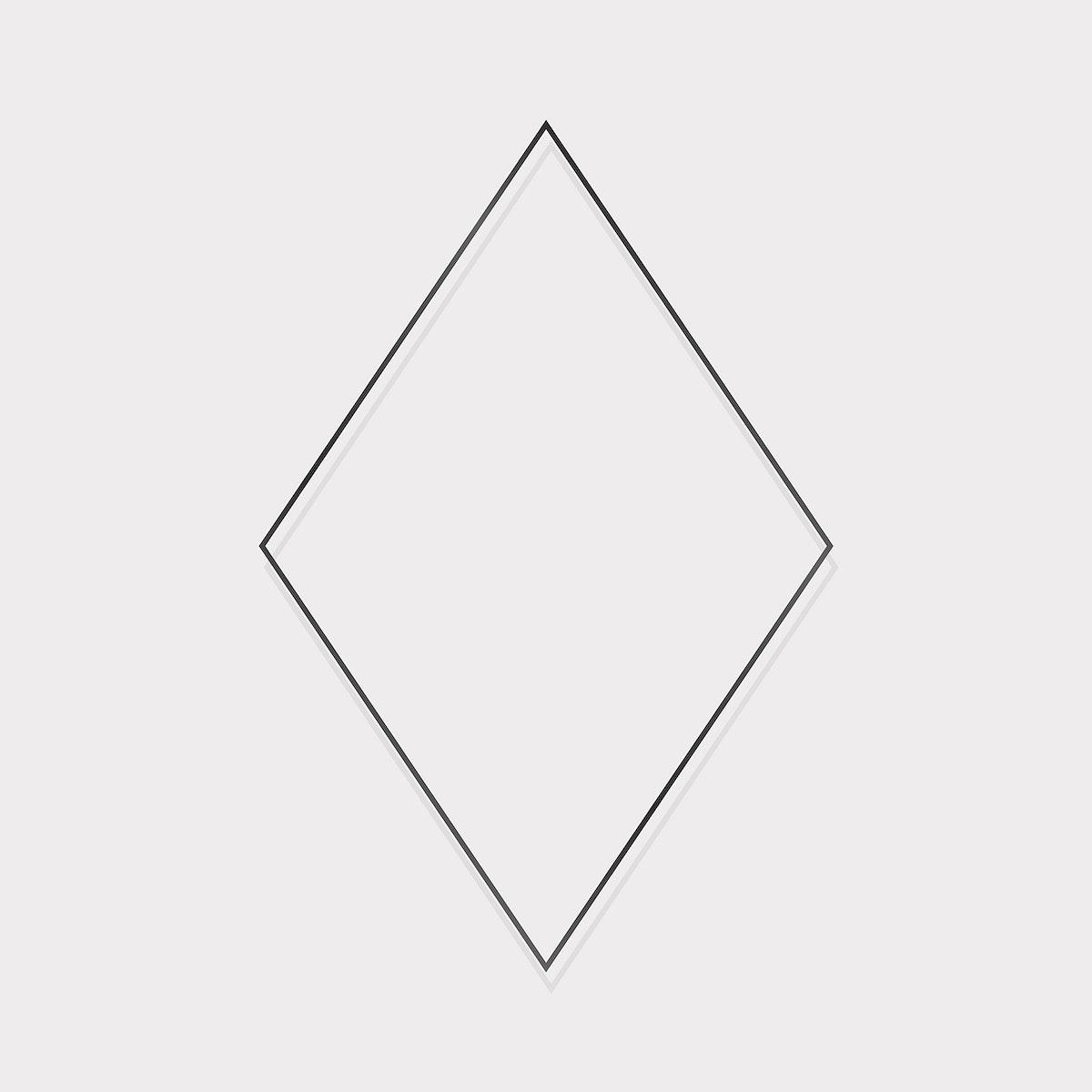 Rhombus black frame on a beige background vector