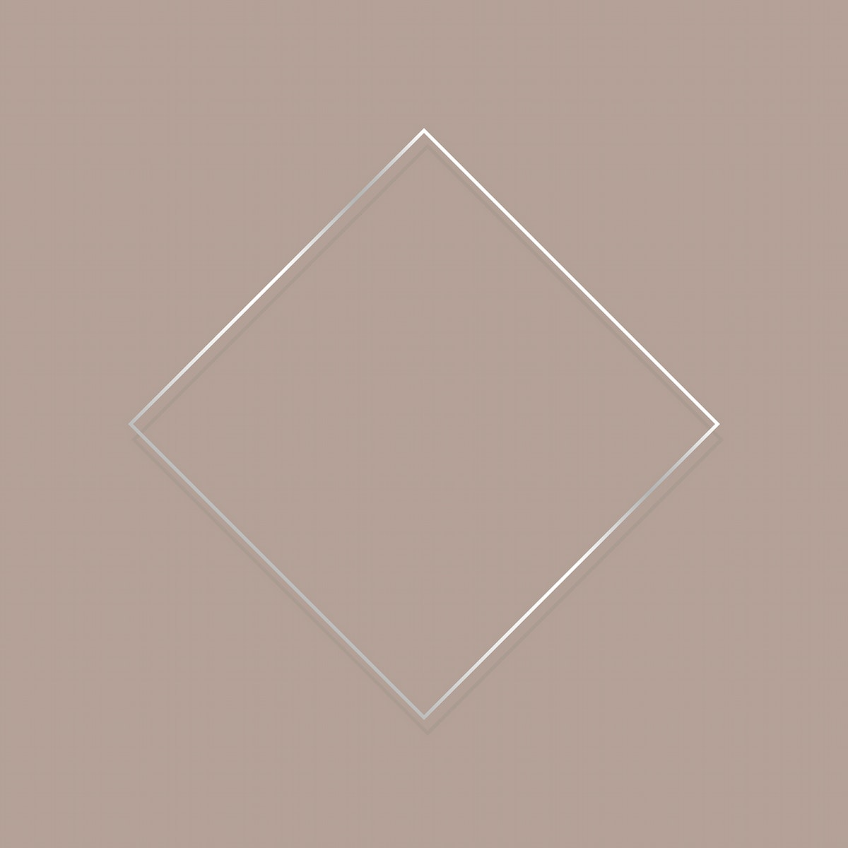 Rhombus silver frame on a blank background vector