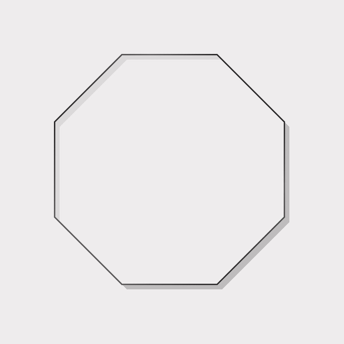 Octagon black  frame on a blank background vector