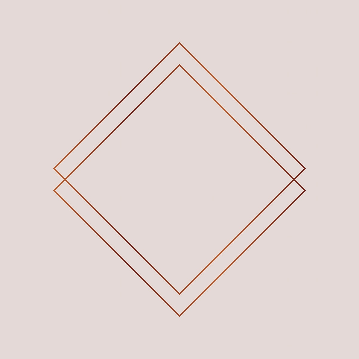 Rhombus copper frame on a blank background vector