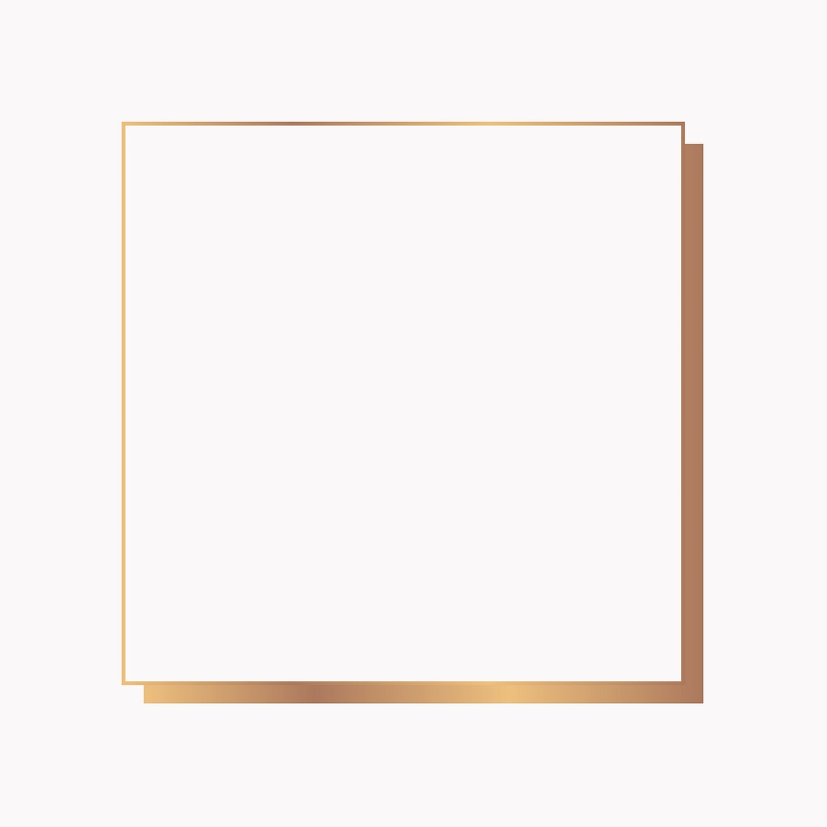 Square gold  frame on a blank background vector