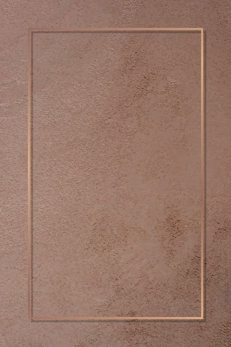 Rectangle bronze frame on a brown marble vector
