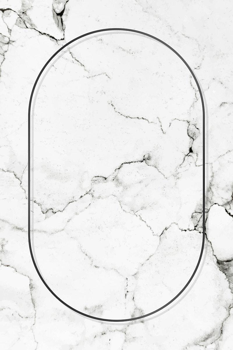 Oval black frame on a marble vector