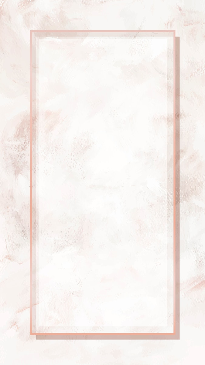 Rectangle pink gold frame mobile phone wallpaper vector