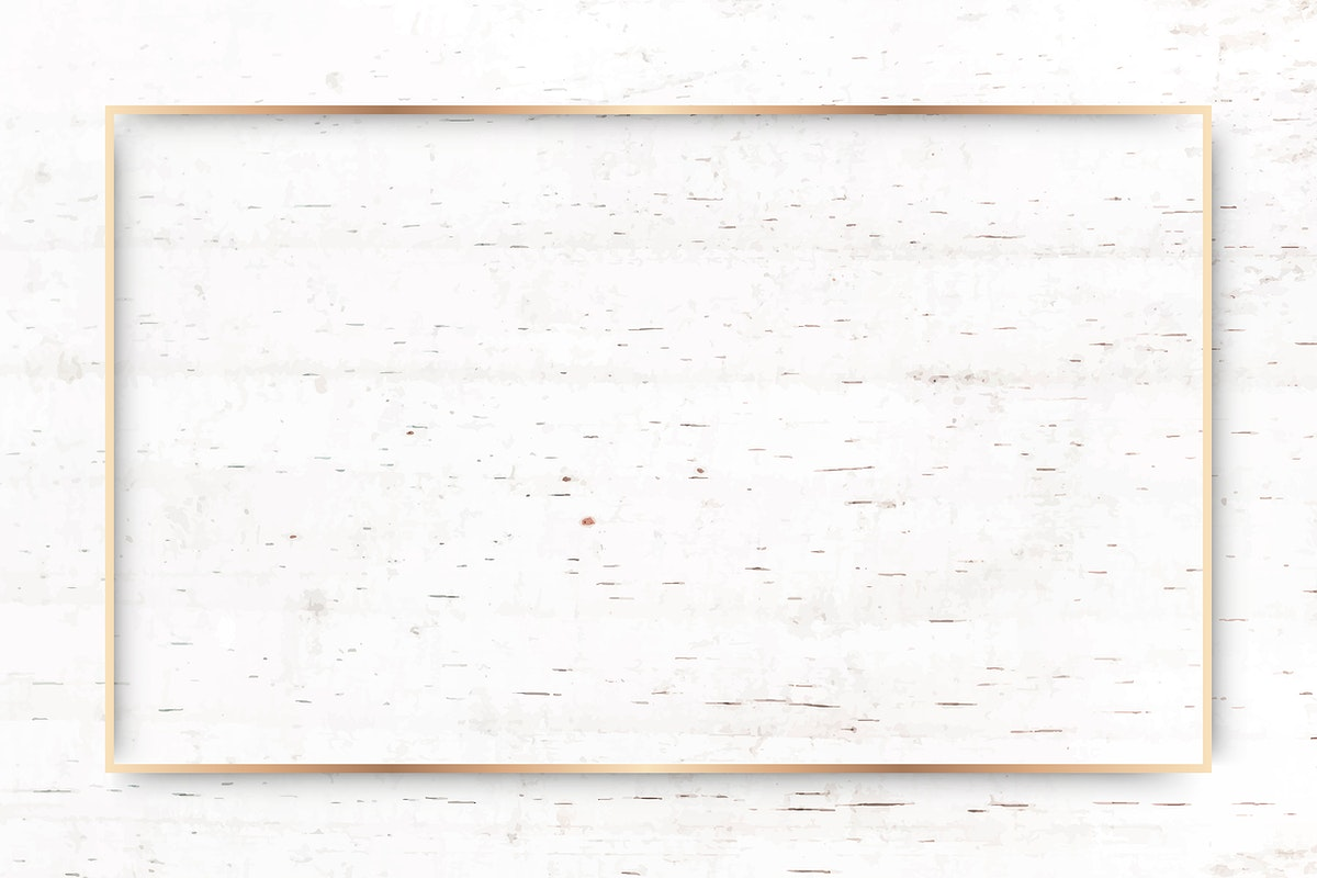 Rectangle gold frame on beige marble background vector