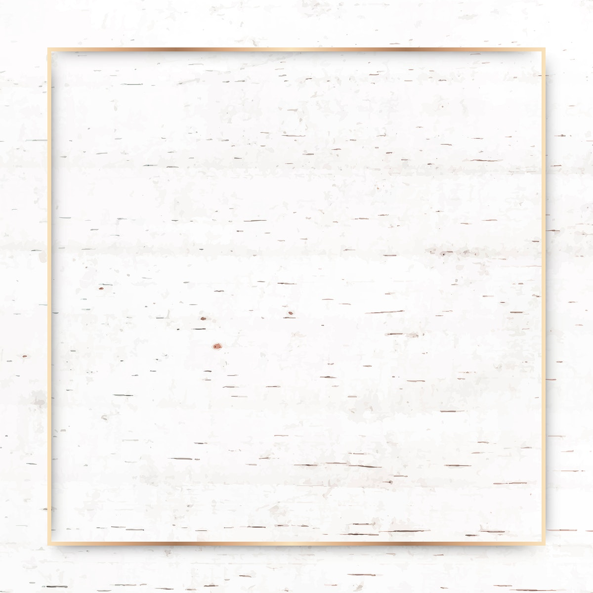 Square gold frame on beige marble background vector