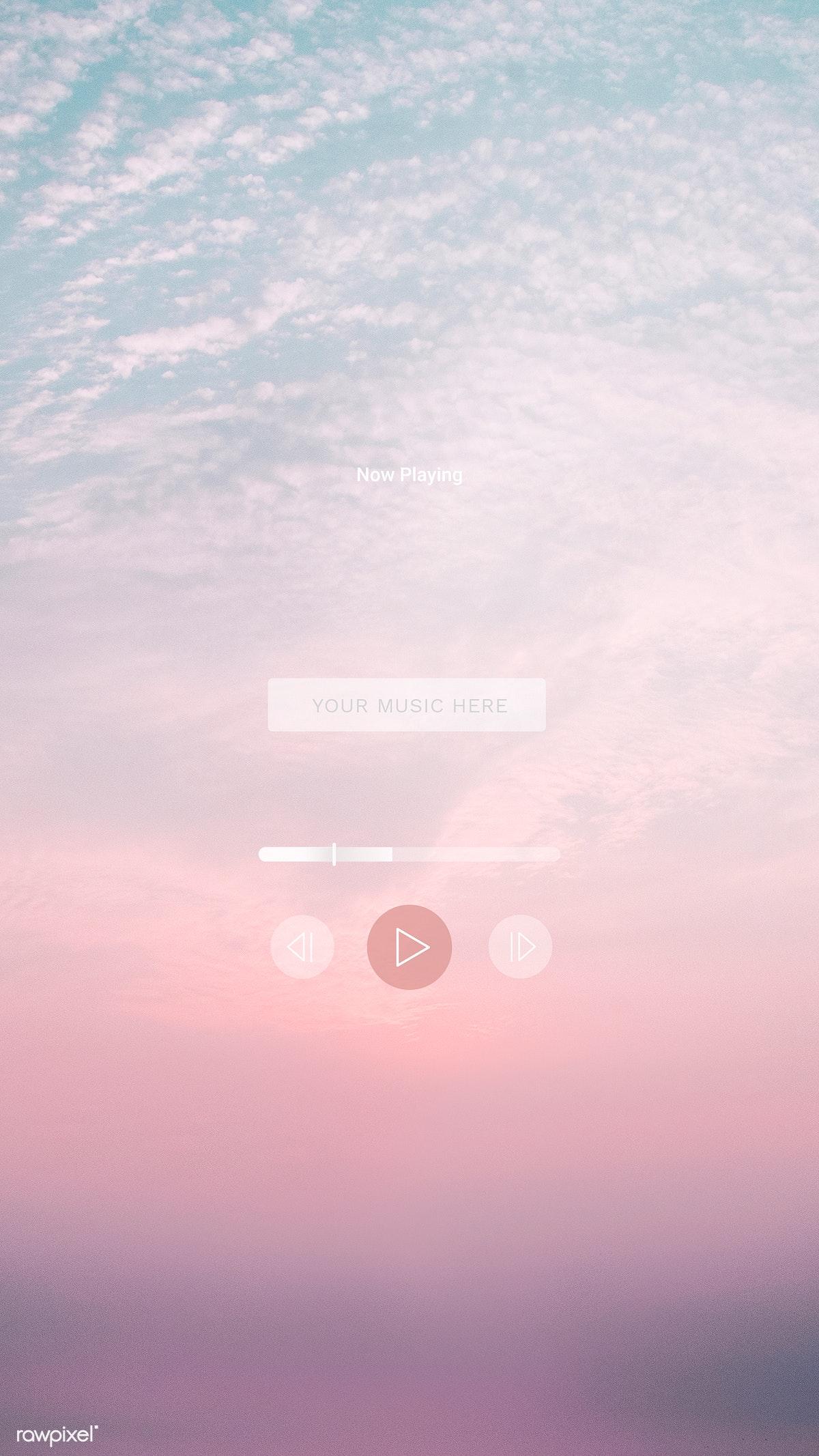 Download premium image of Music playing mobile phone wallpaper 1214200