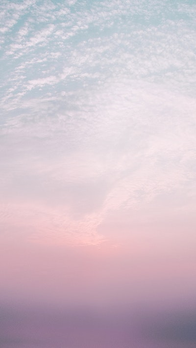 Download premium psd of Rectangle frame on a cotton candy sky mobile
