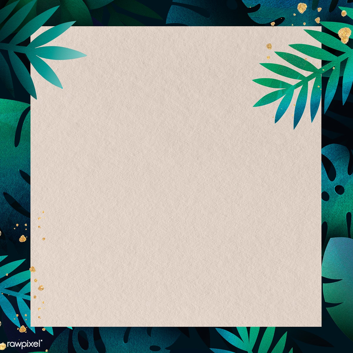 Download premium image of Blank square leafy frame design 1219695