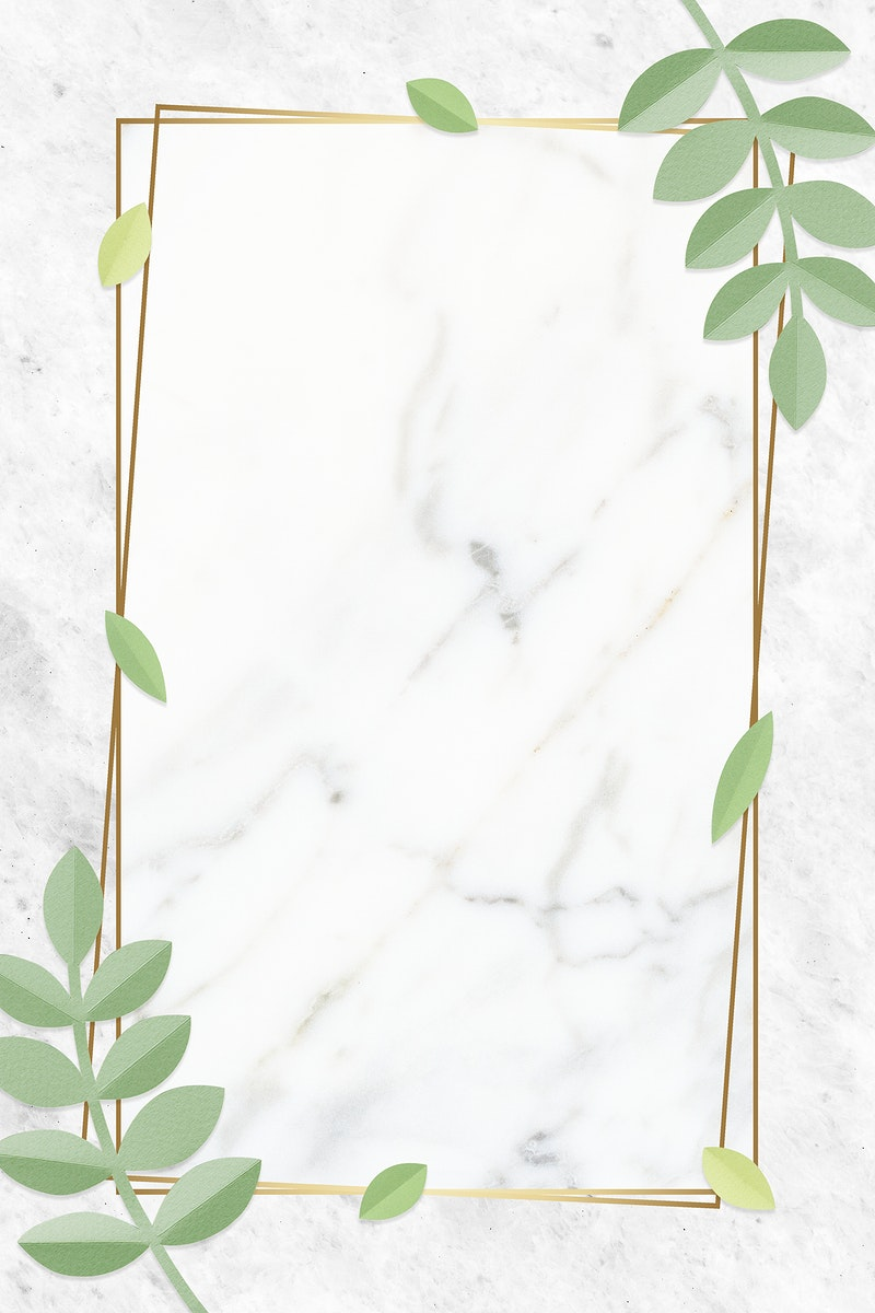 Blank leafy rectangle golden frame
