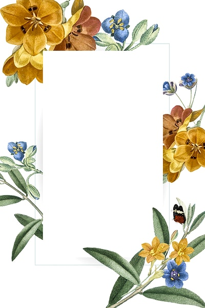 Download premium image of Golden floral rhombus frame vector 1217414