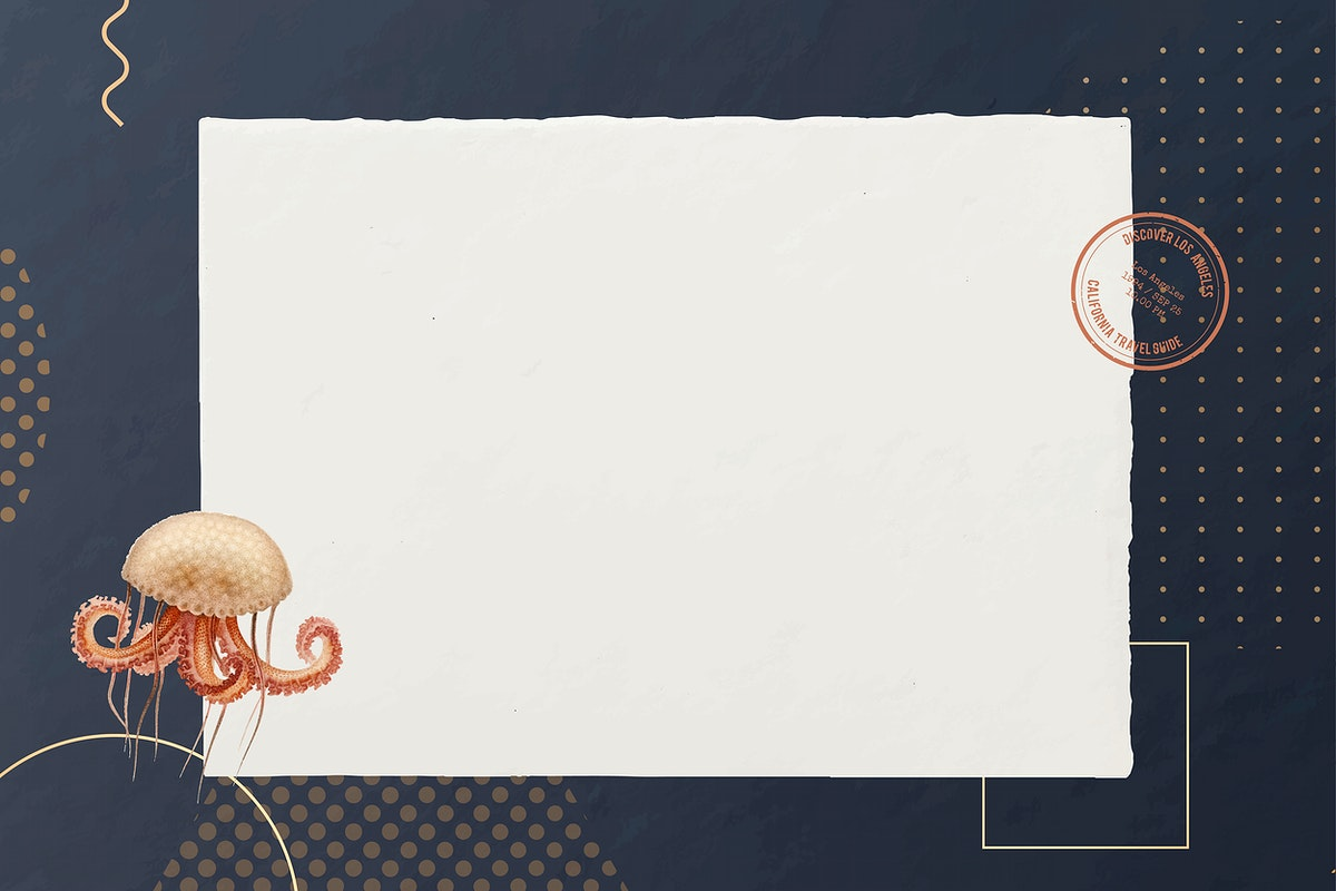 Blank octopus paper design vector