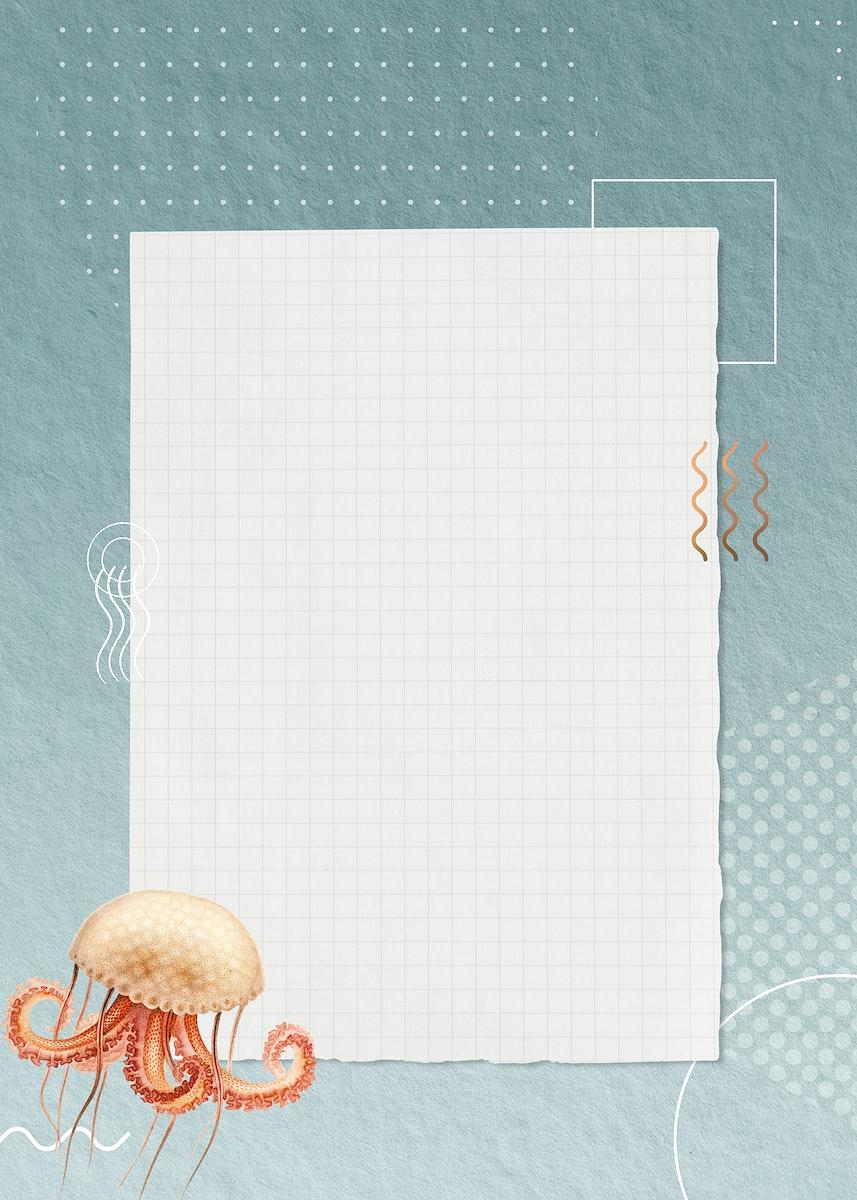Blank octopus geometric paper design