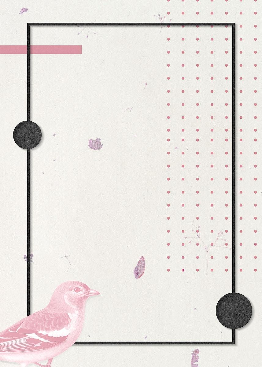 Black rectangle bird frame design