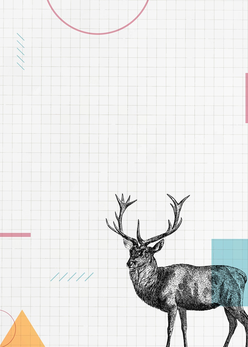 Blank paper with a deer vector