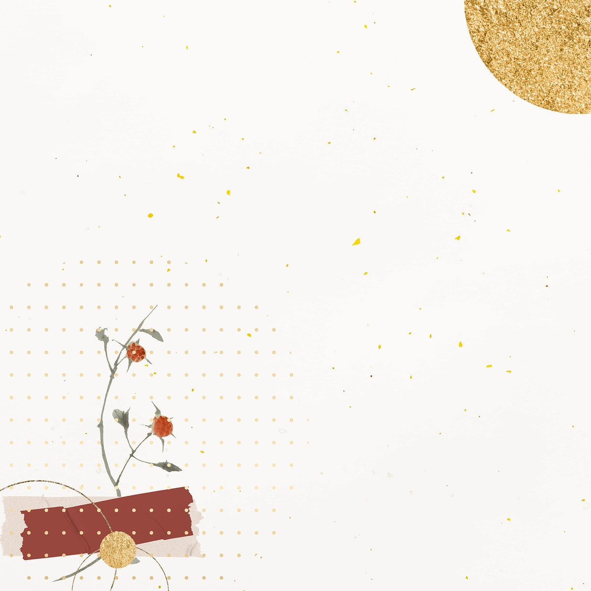 Blank shimmering golden paper vector