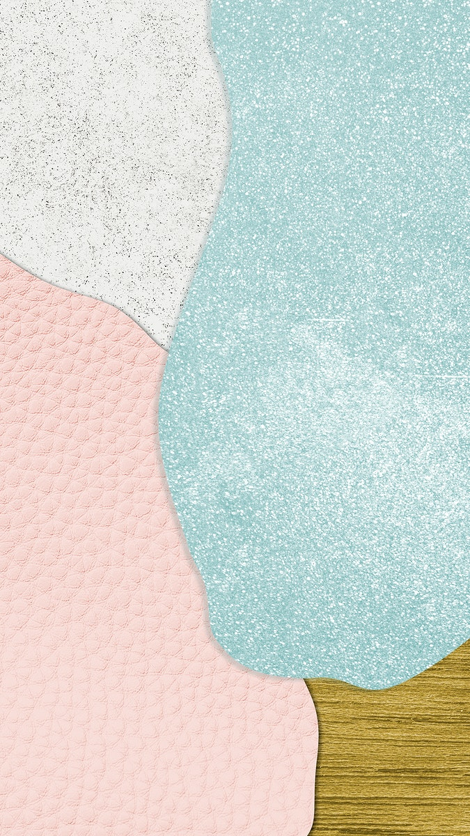 Pink and blue collage textured background illustration