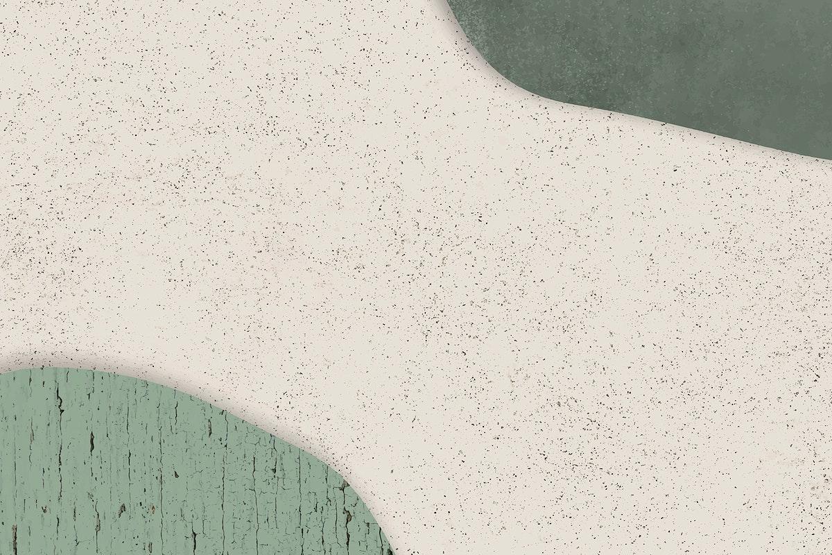 Green pattern on beige background vector