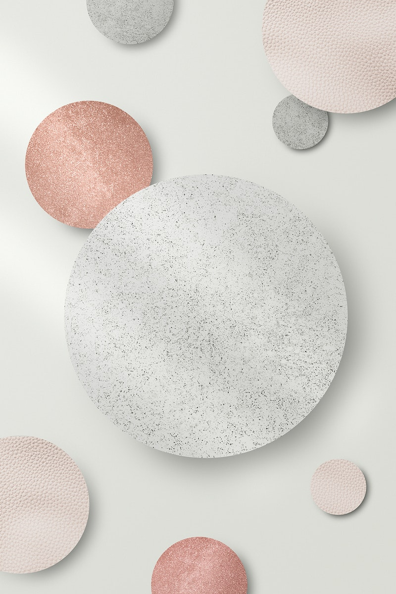 Shimmery silver and pink round pattern background illustration