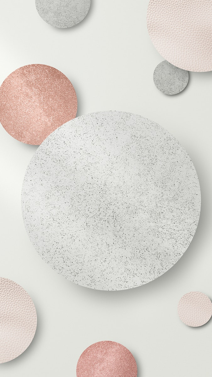 Shimmery silver and pink round pattern mobile phone wallpaper illustration