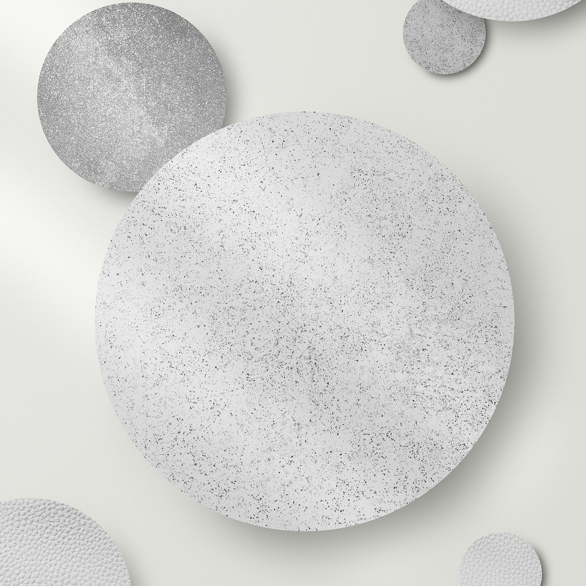 Shimmery silver round pattern  background vector