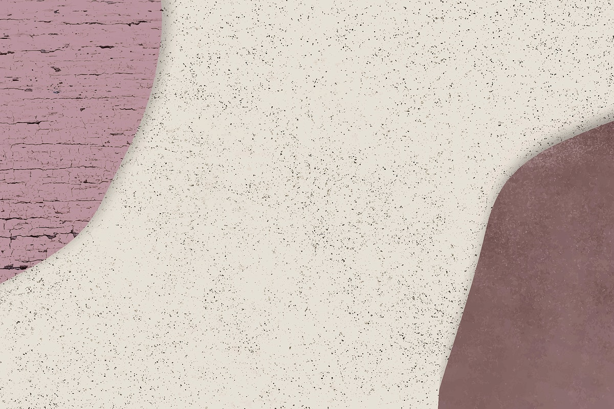 Dark pink and red collage on beige marble background vector