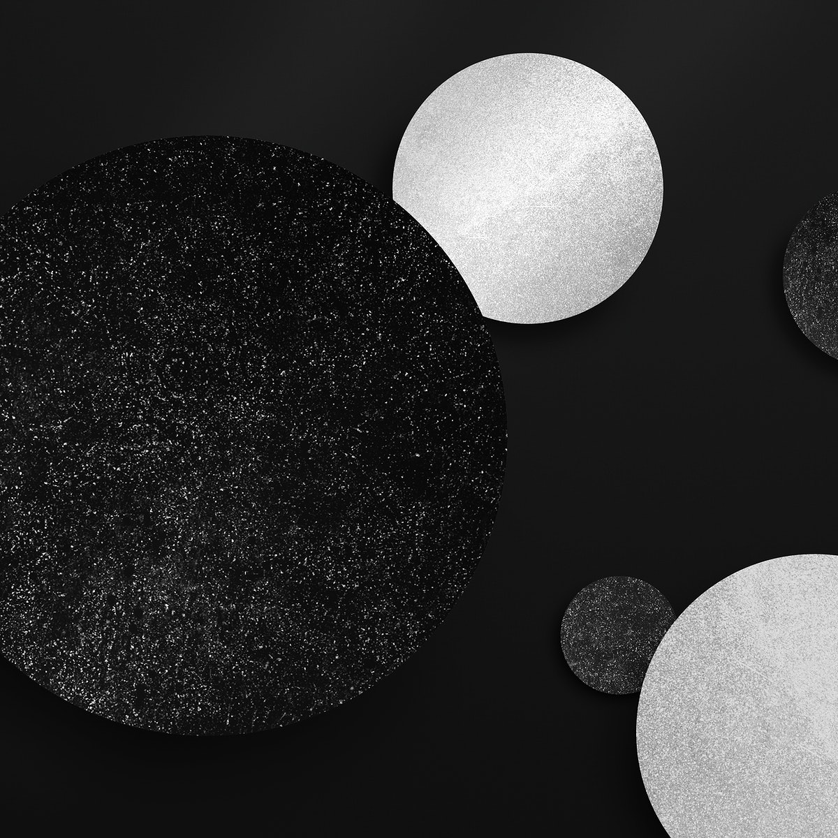 Shimmery black and silver round pattern background vector
