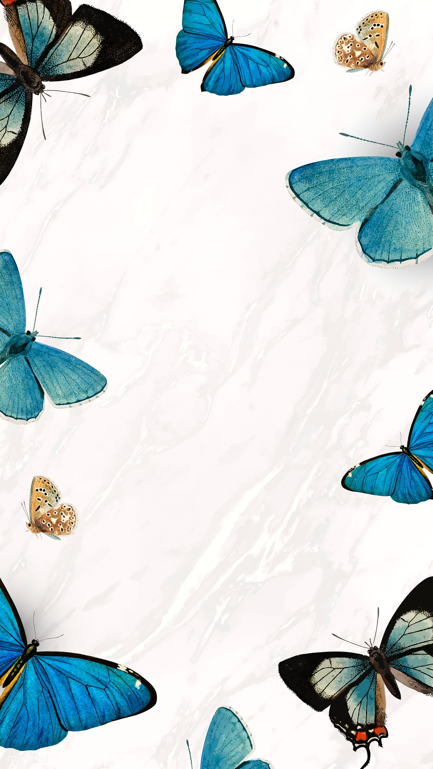 Butterfly phone wallpaper | Royalty free stock vector ...