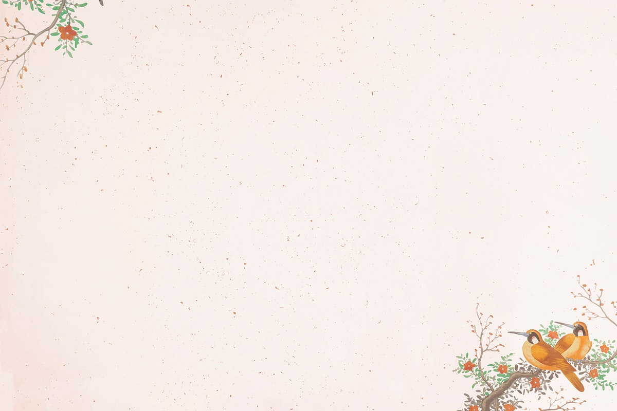 Two brown bird pattern on light pink background vector