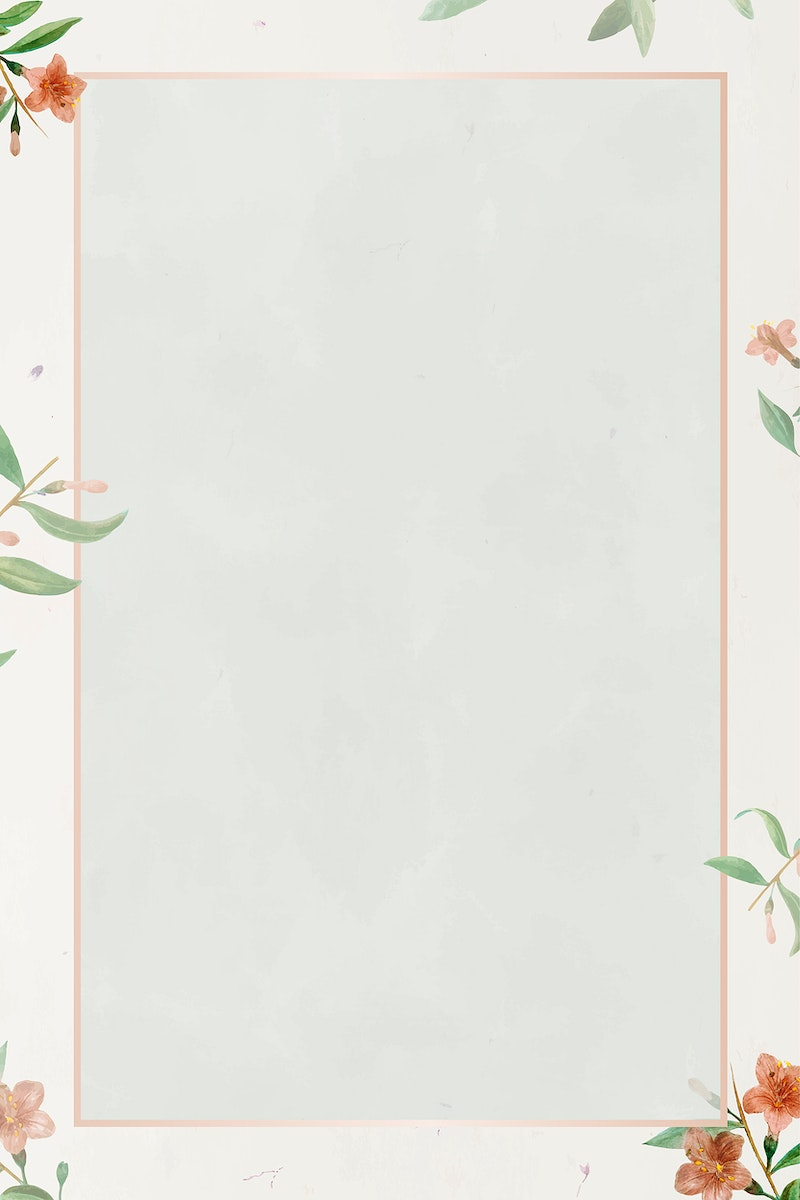 Pink frame with Chinese azalea pattern background vector