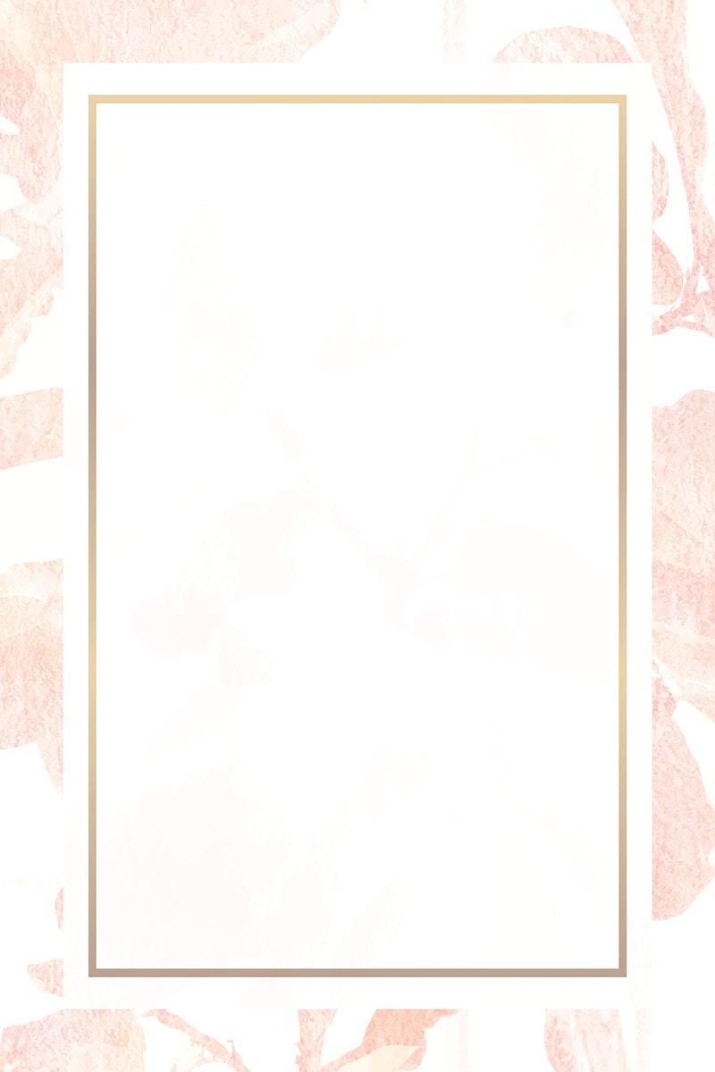 Vintage pink banana leaf patterned frame vector