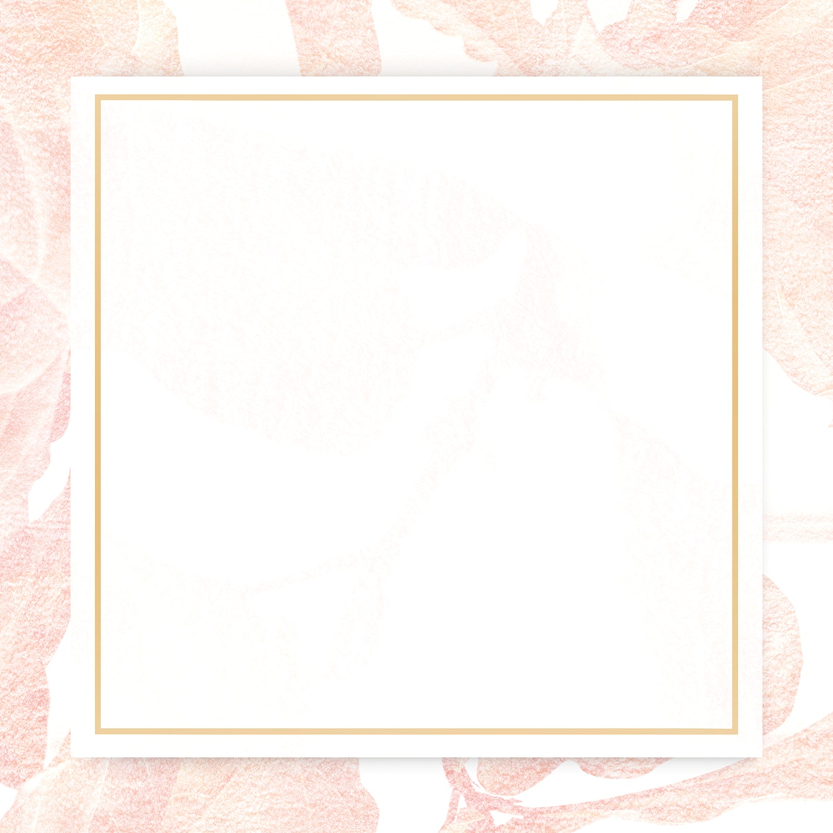 Vintage pink banana leaf patterned frame