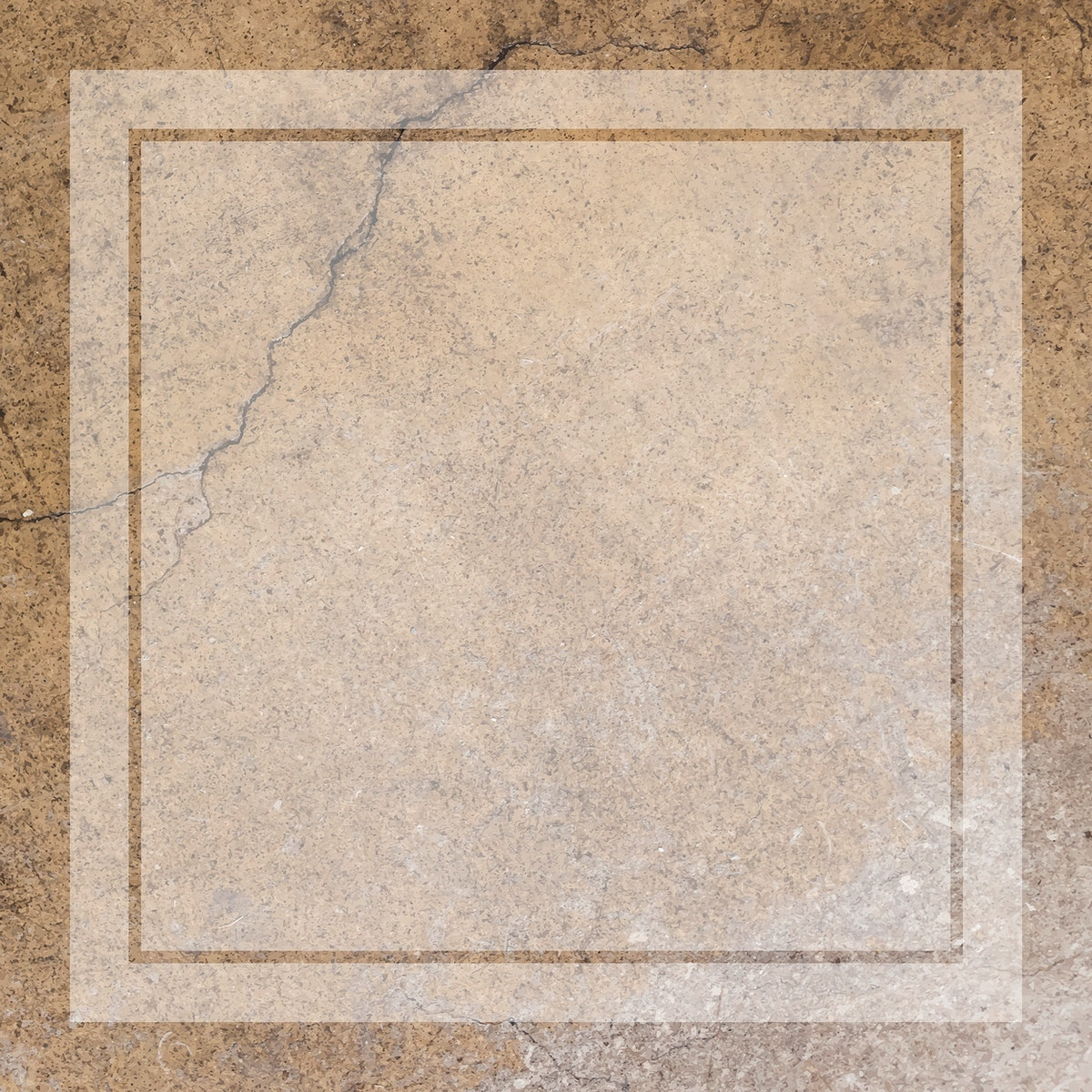 Blank transparent frame on an aged brown concrete wall vector