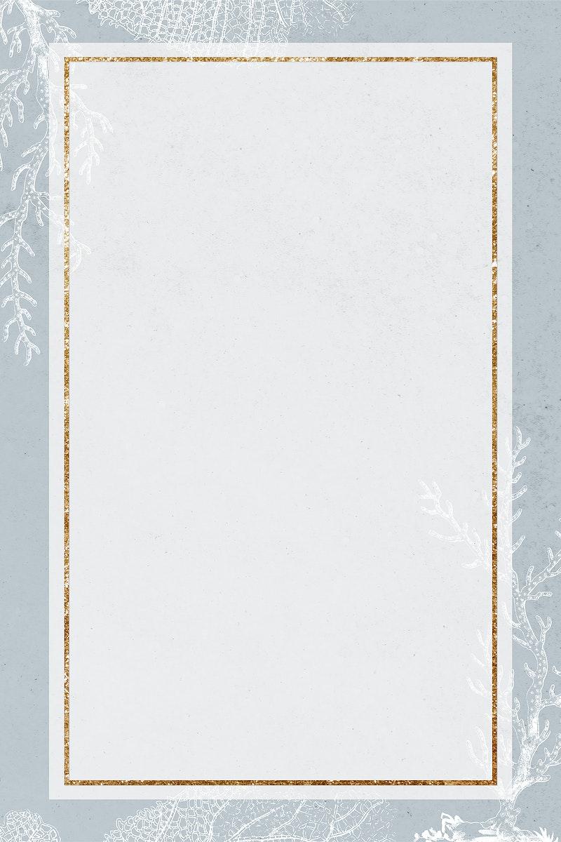 Blank golden coral rectangle frame