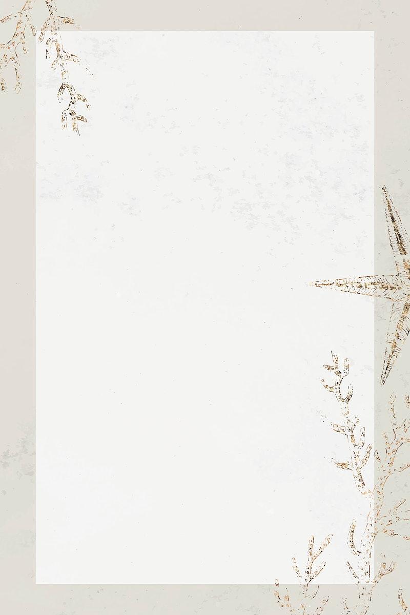 Blank rectangle coral frame design vector