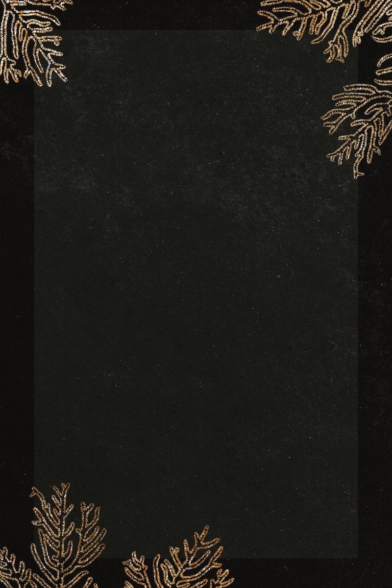 Blank golden coral frame design