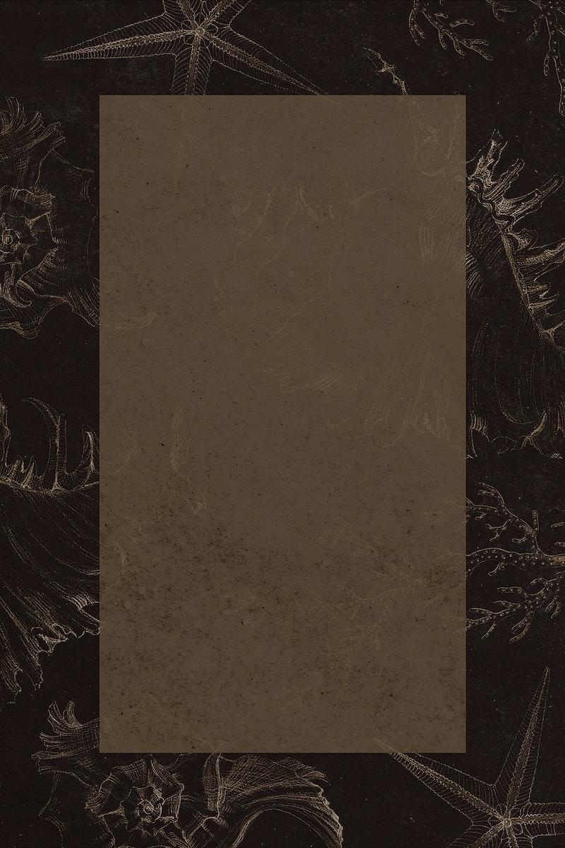 Blank rectangle golden coral frame