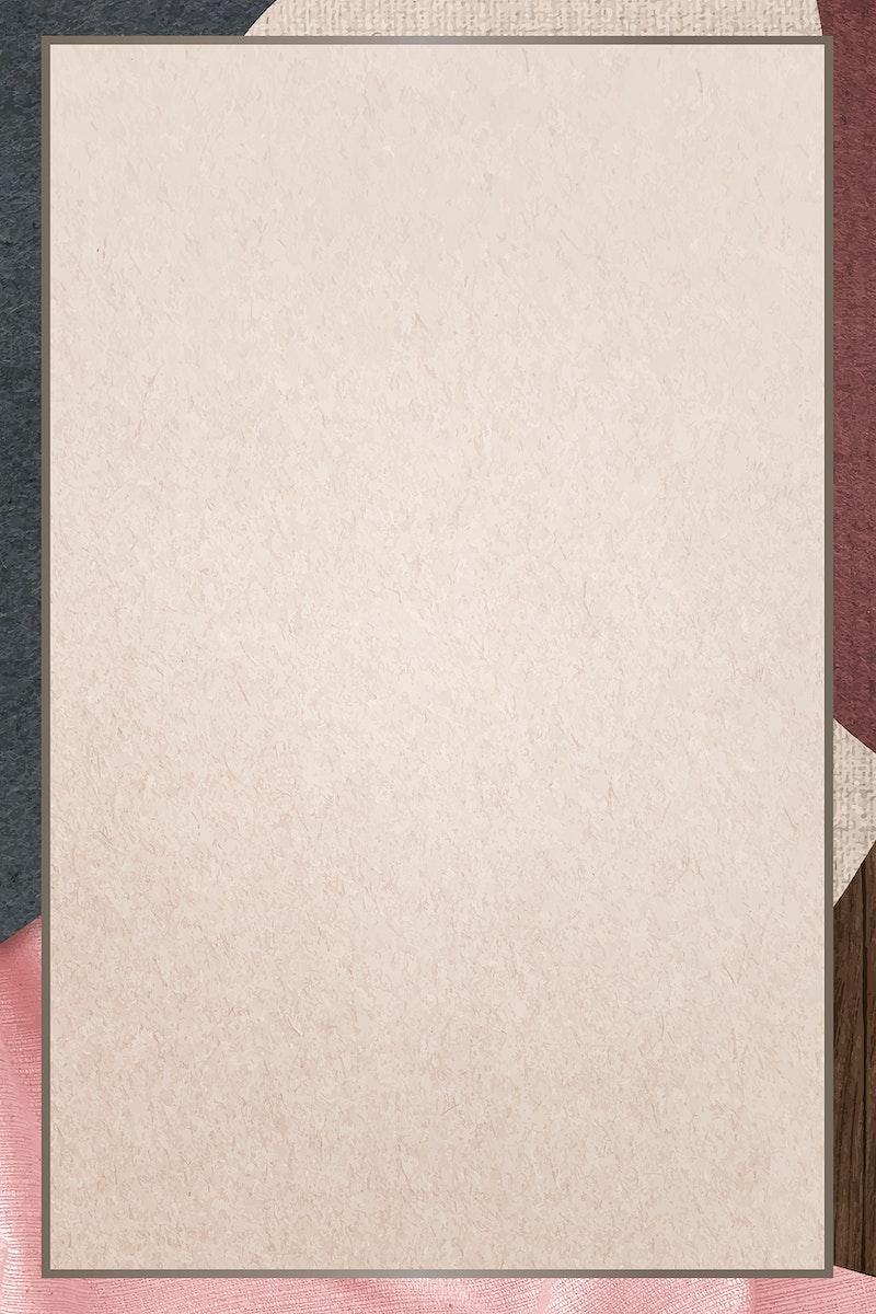 Frame on beige background vector