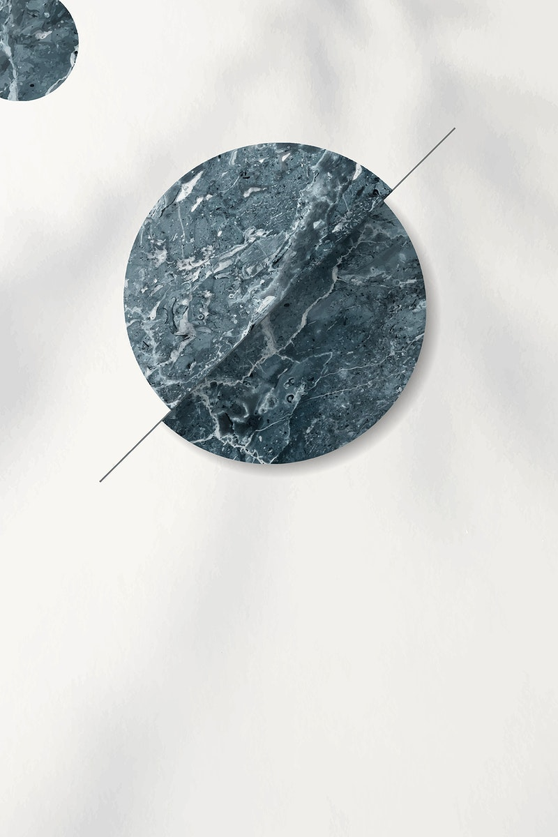 Bluish gray marble circle on white background vector