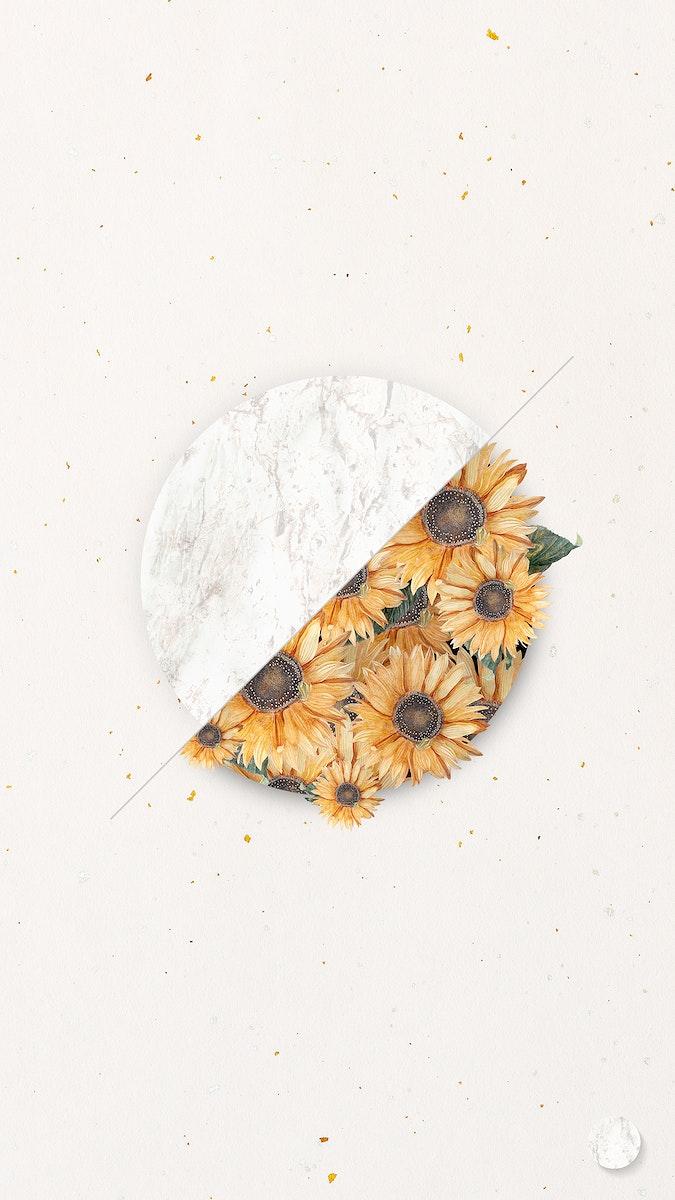 Flower bouquet on beige background illustration