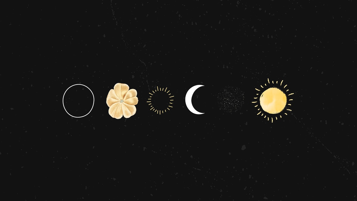 Floral galaxy with moon and sun design vector