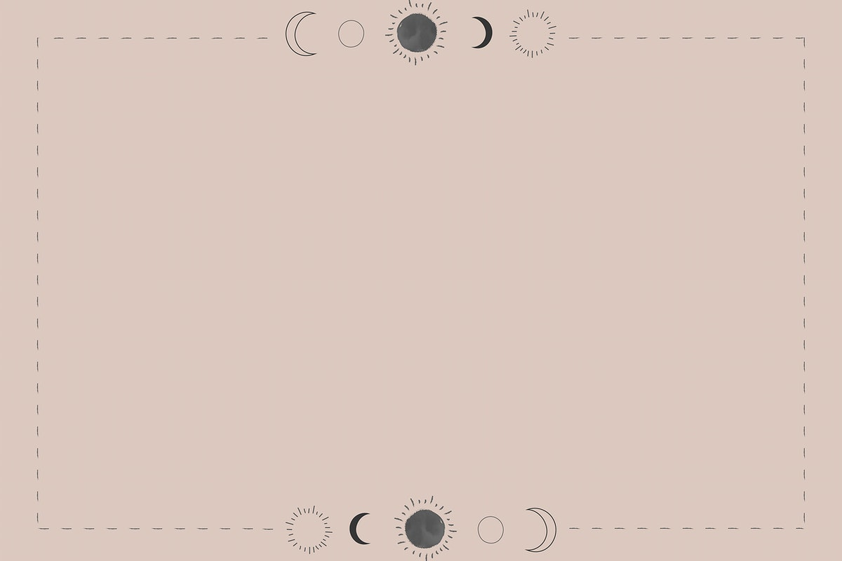Sun and the moon on a beige background vector