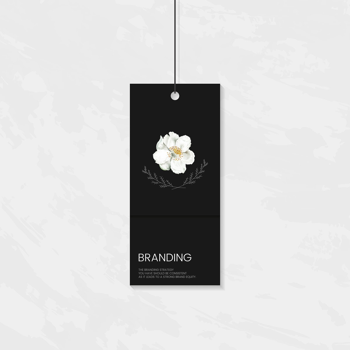 Floral clothing label template design vector